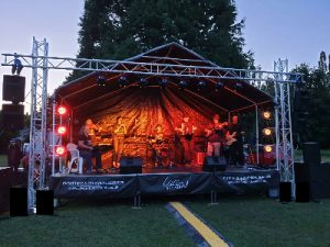 LiveSupport Event Services - Sound PA Stage Lighting Projector Hire Exeter Southampton - Outdoor Festival Stage Rental Staging Hire 5