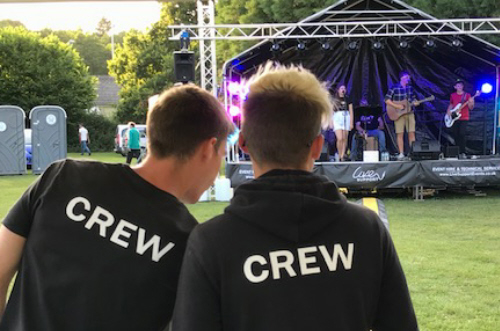 LiveSupport Event Services - Sound PA Stage Lighting Projector Hire Exeter Southampton - Technicans Engineers Outdoor Festival Stage Hire Rental 2