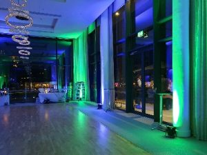 LiveSupport Event Services - Sound PA Stage Lighting Projector Hire Exeter Southampton - Wedding Uplighting Uplighter Hire Rental 6