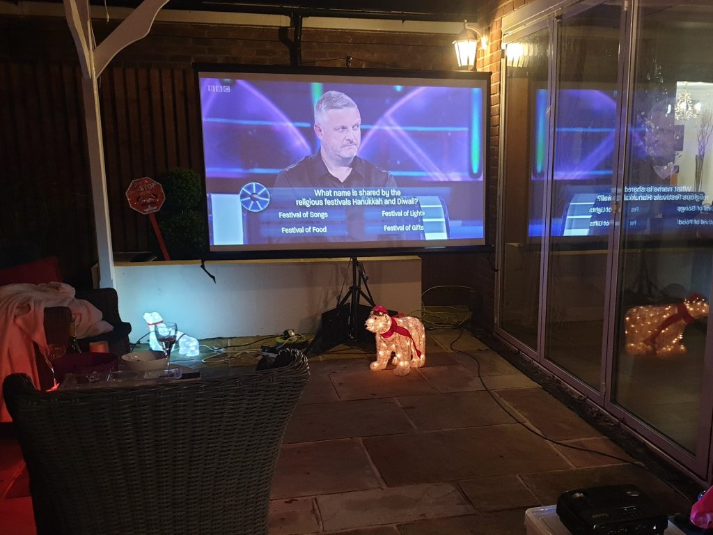 Outdoor Cinema Hire Package Rental Movie Projector Southampton Garden Home