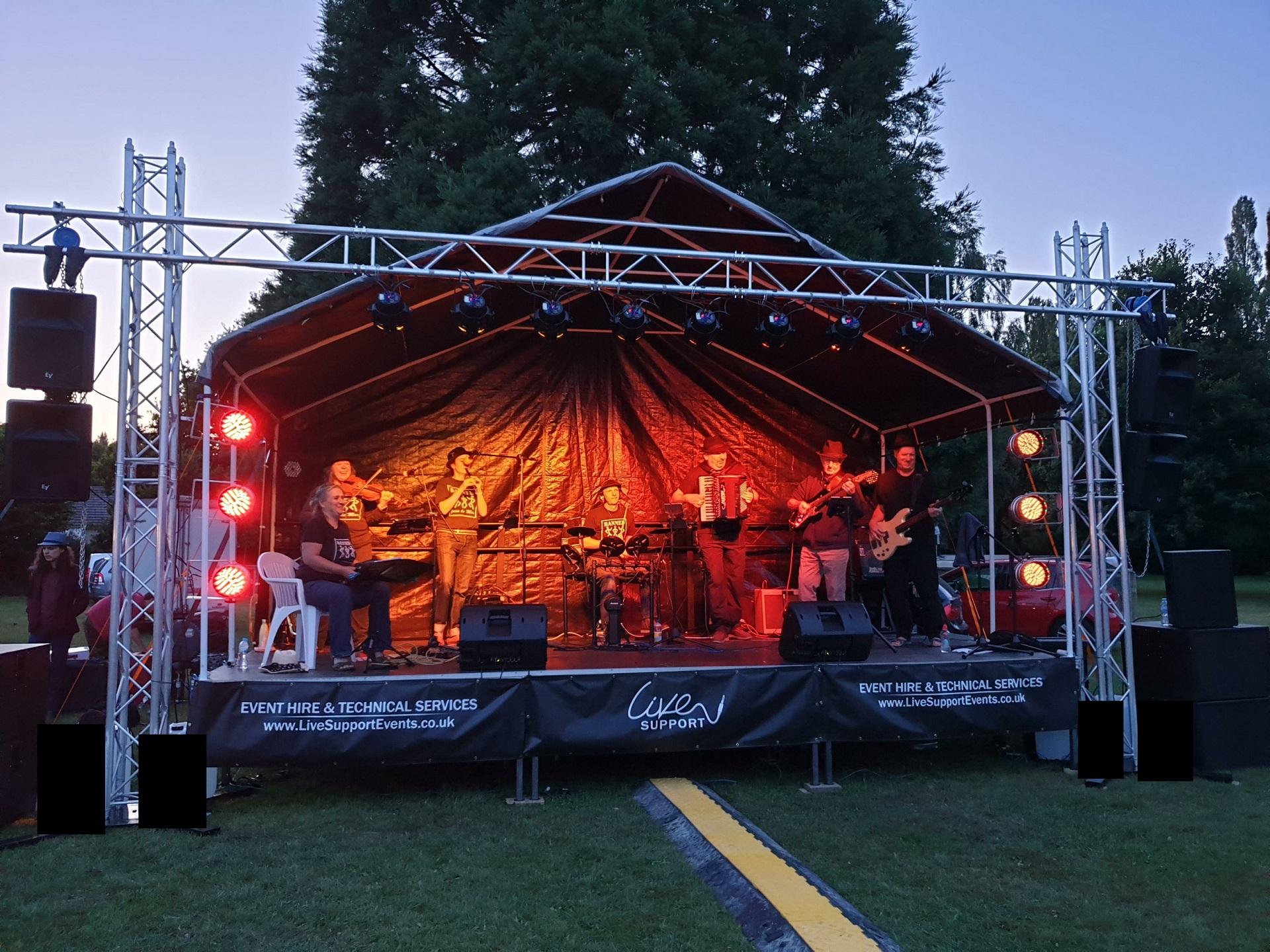 Outdoor Stage Hire and Rental for Local Festivals Events Concerts Christmas Light Switch On Cheap Exeter Southampton